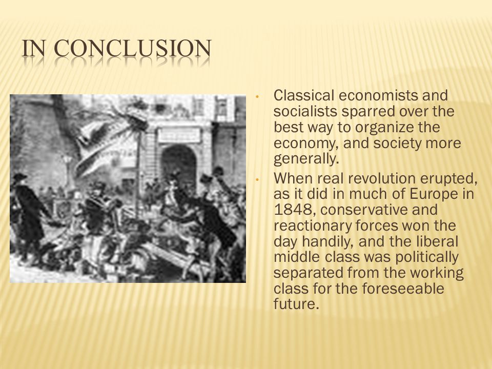 Classical economists and socialists sparred over the best way to organize the economy, and society more generally.
