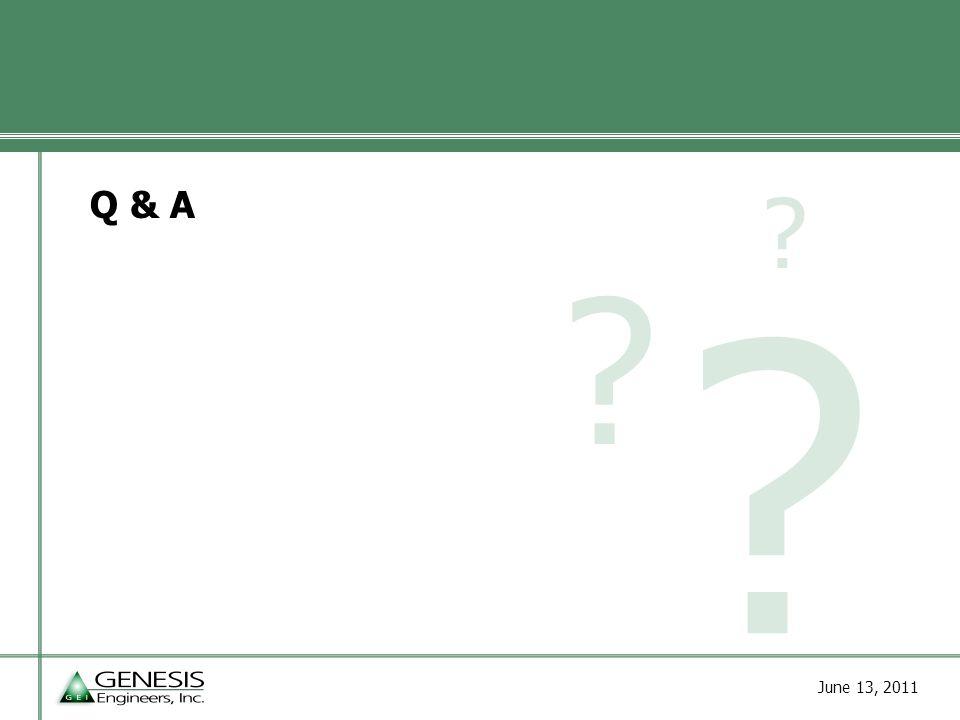 June 13, 2011 Q & A