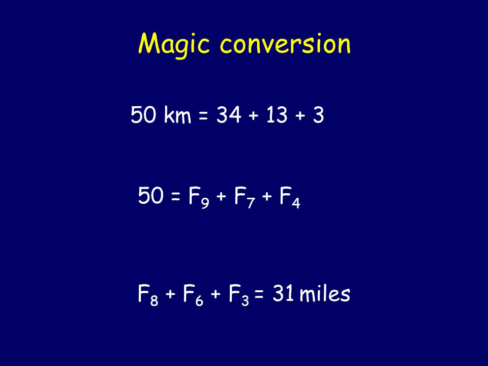 How to convert kilometers into miles Heads-on