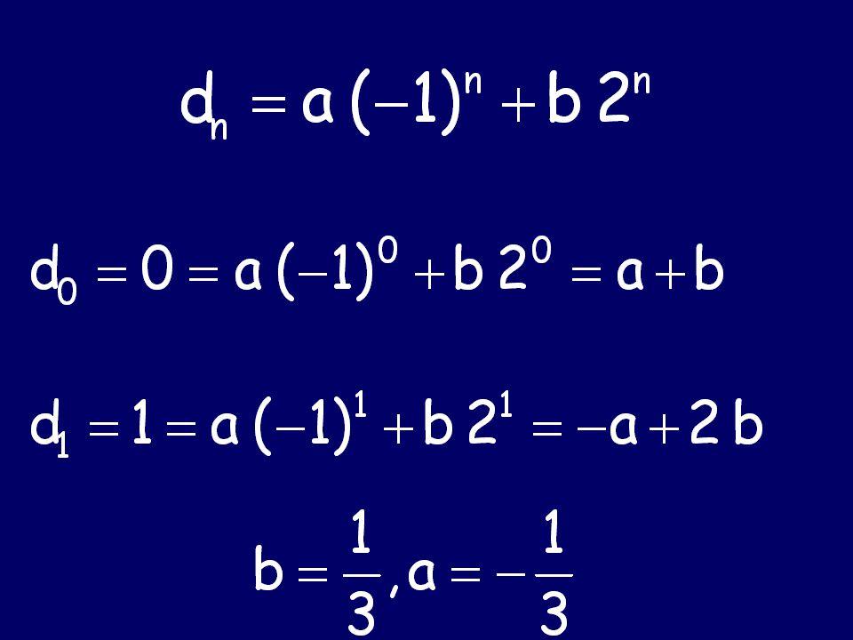 Characteristic Equation  a, b