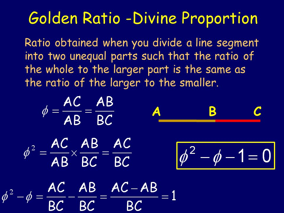 The Golden Ratio Some other majors have their mystery numbers, like  and e.