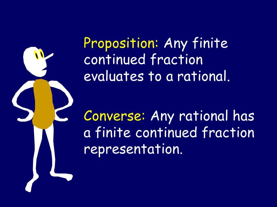 Recursively Defined Form For CF