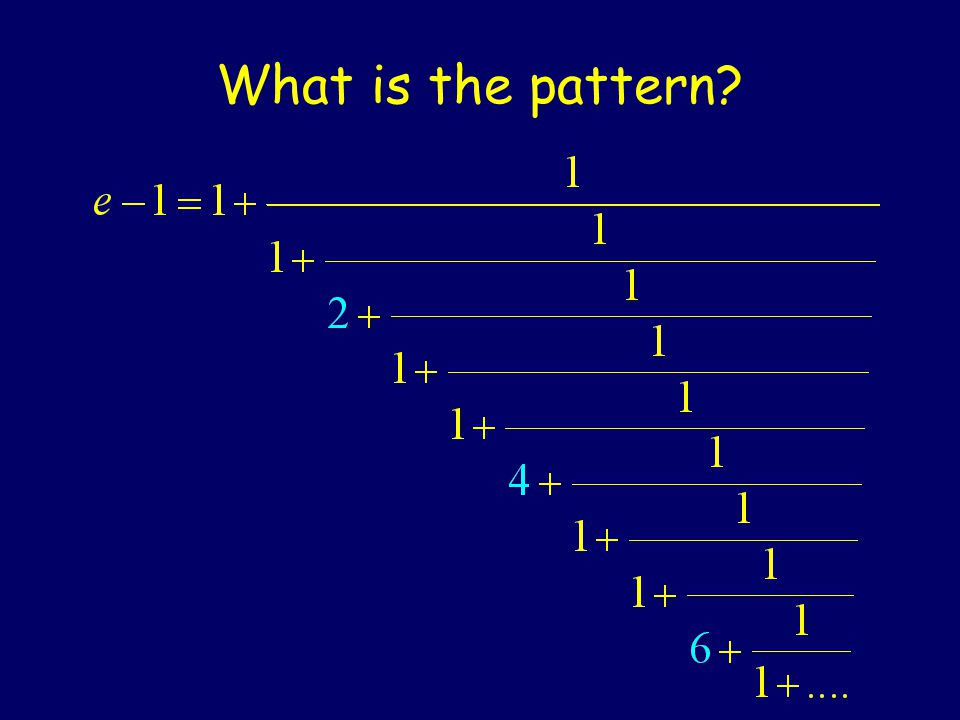 What is the pattern