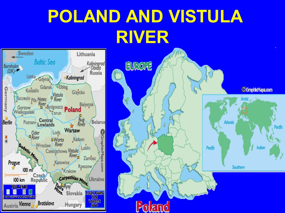 POLAND AND VISTULA RIVER