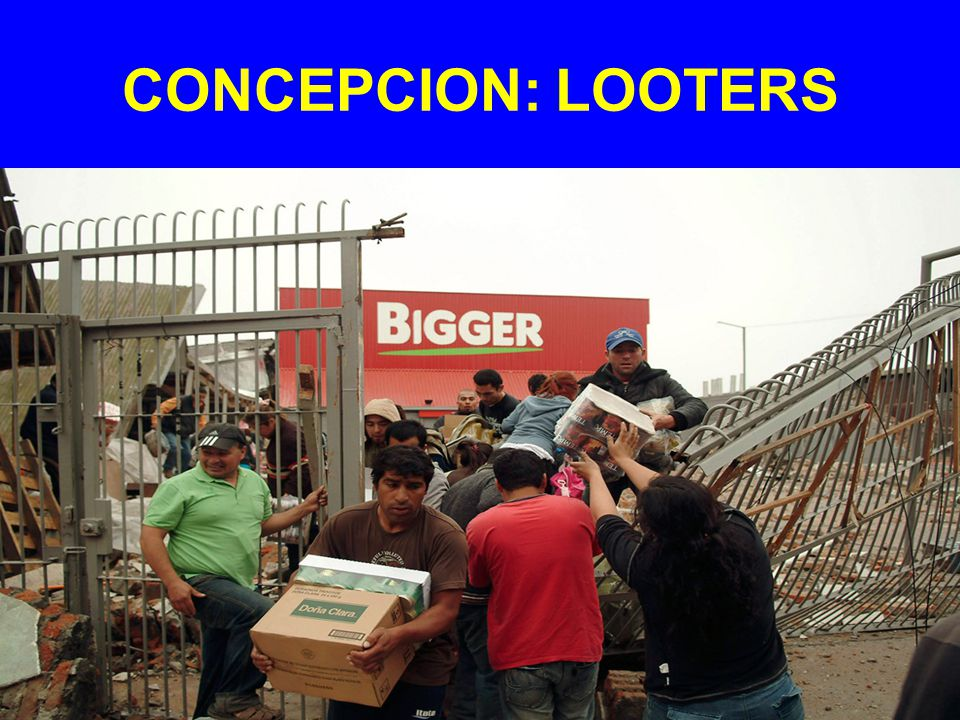 CONCEPCION: LOOTERS
