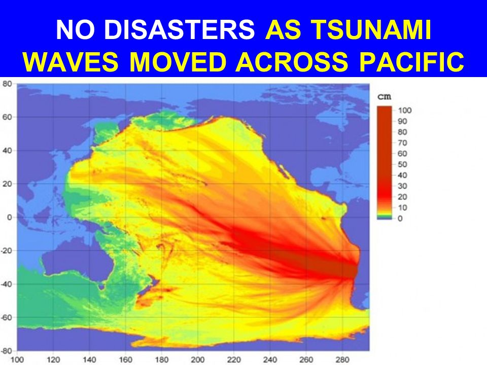 NO DISASTERS AS TSUNAMI WAVES MOVED ACROSS PACIFIC