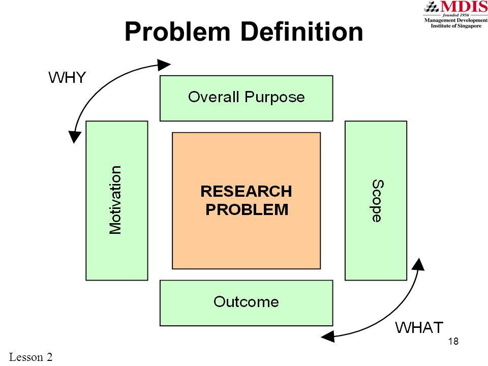18 Problem Definition Lesson 2