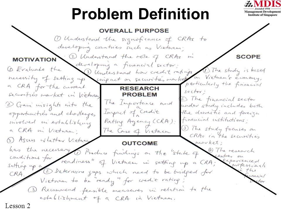 23 Problem Definition Lesson 2