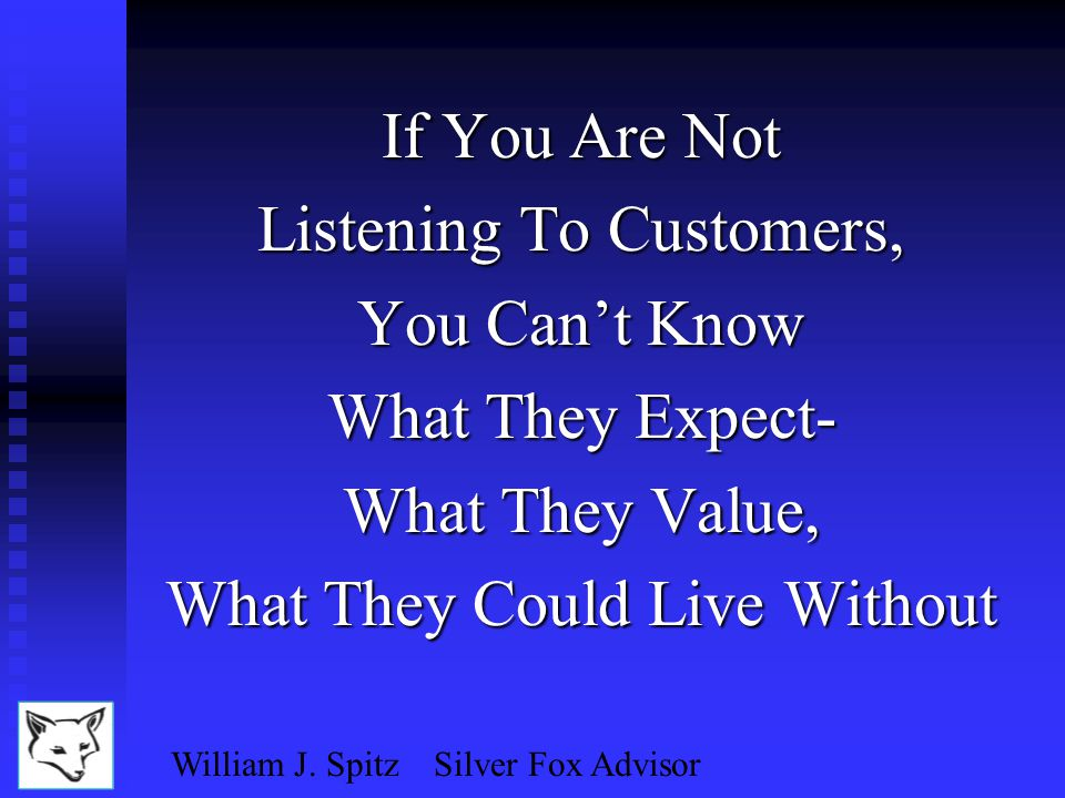 William J. Spitz Silver Fox Advisor Message Factors, Inc.