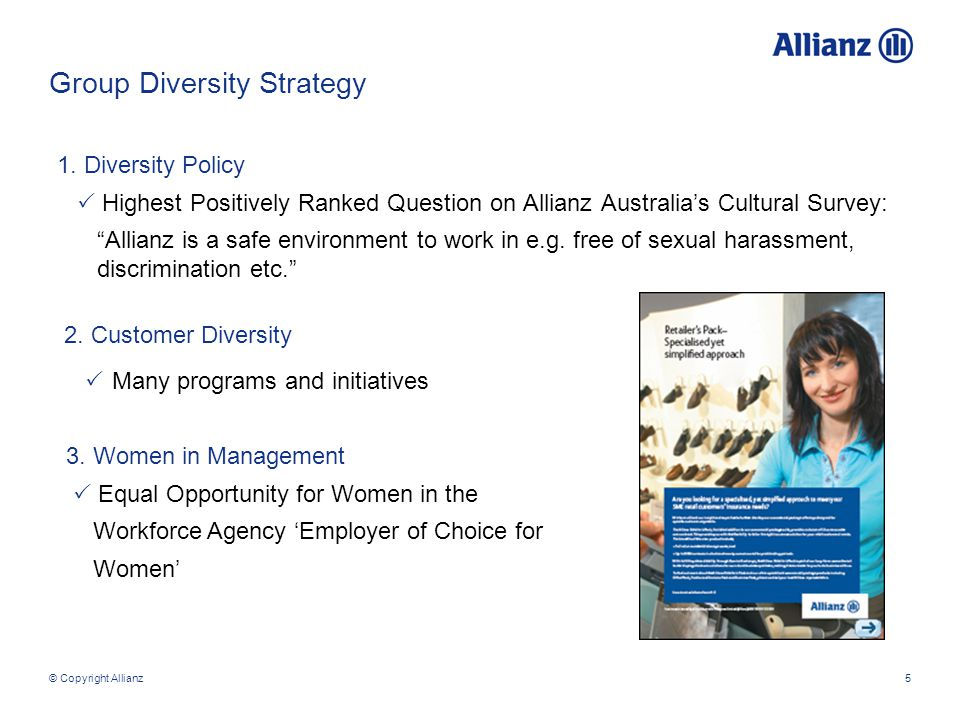 © Copyright Allianz5 Group Diversity Strategy 1.