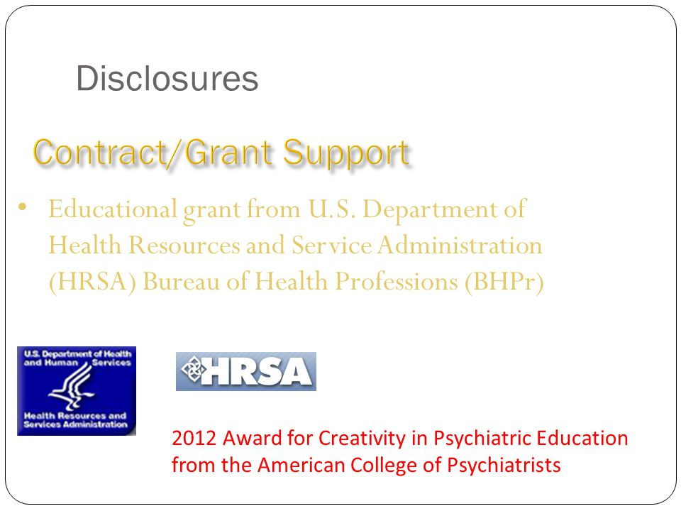 Disclosures Educational grant from U.S.