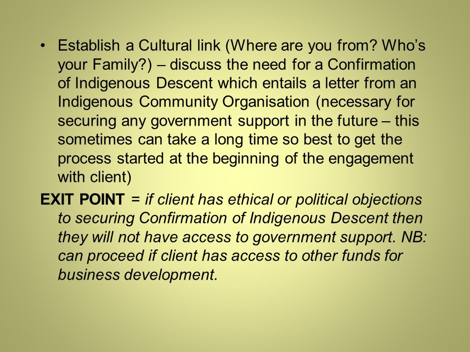 Establish a Cultural link (Where are you from.