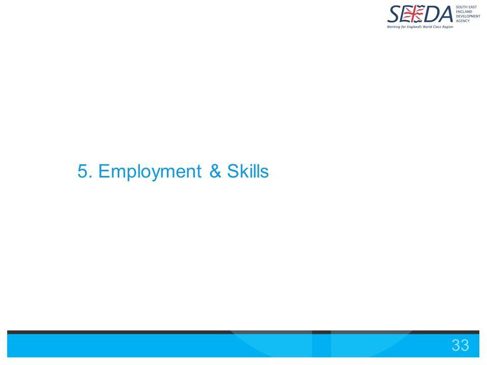 33 5. Employment & Skills