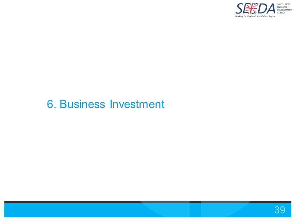 39 6. Business Investment