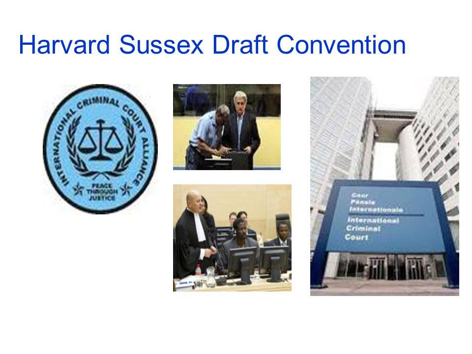 Harvard Sussex Draft Convention