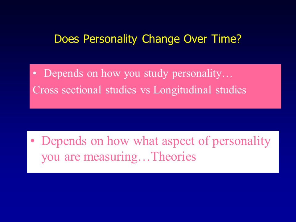 Does Personality Change Over Time.
