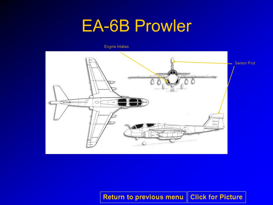 EA-6B Prowler Engine Intakes Sensor Pod Return to previous menu Click for Picture