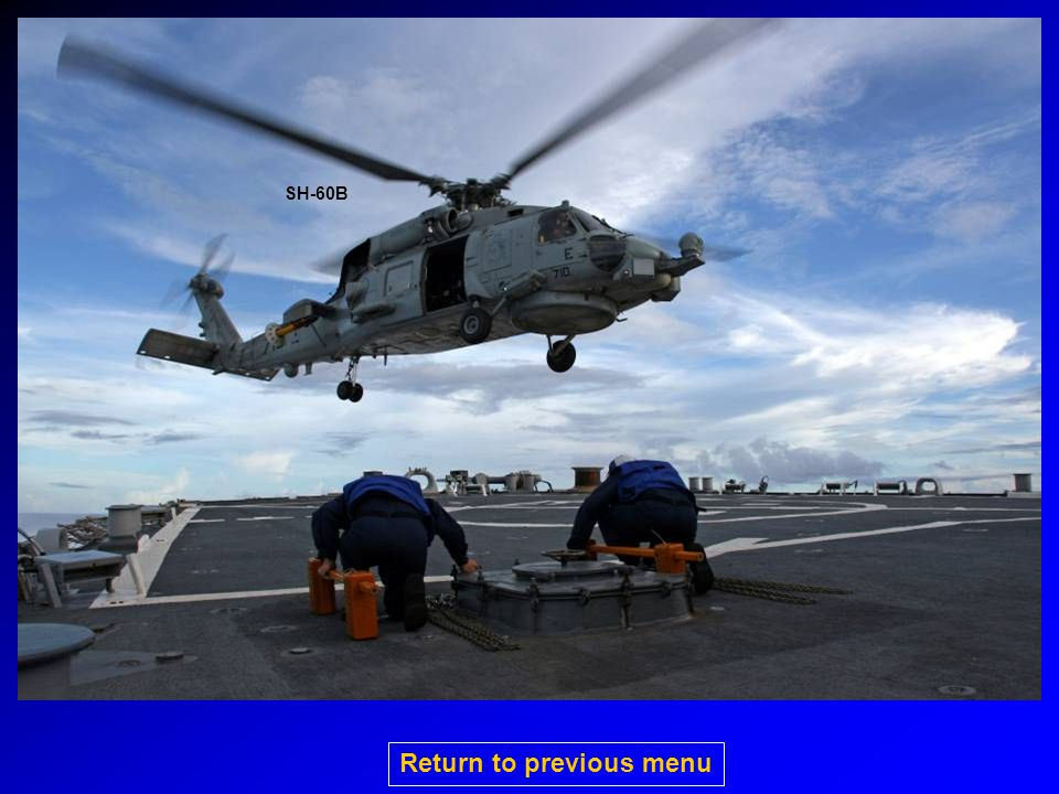 SH-60B Return to previous menu