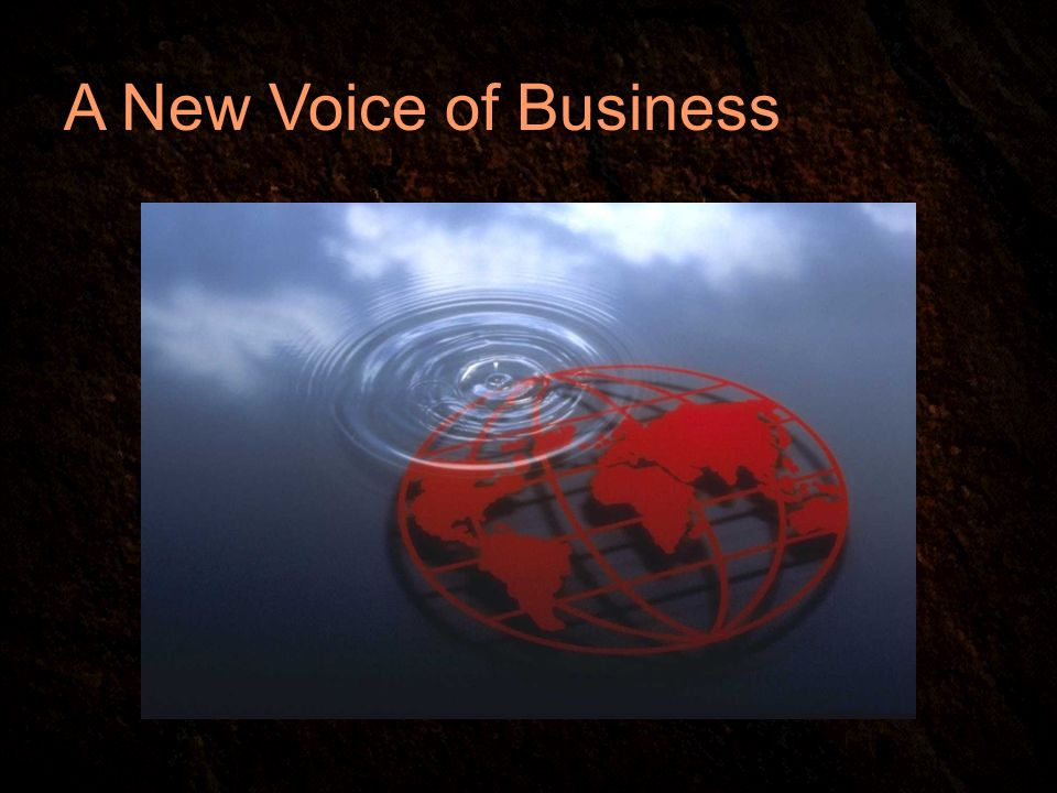 A New Voice of Business
