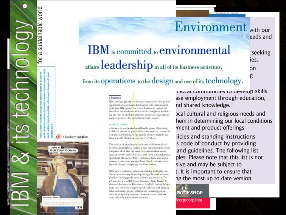 Operations & Facilities Sustainable Organization Design & Process Innovation Governance & Management Choice Point 1 Choice Point 4 Choice Point 3 Choice Point 2 Mission Vision, Values, Products and Services Human Resource Development & Corporate Culture Partnerships & Stakeholder Engagement Marketing & Communications Measurement, Finance and Accounting