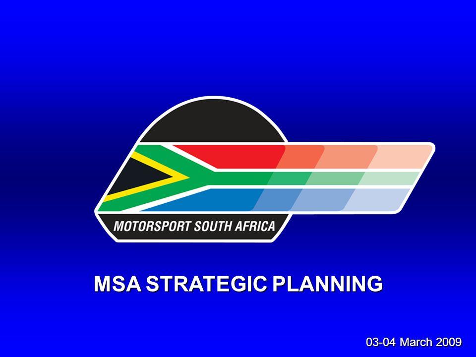 MSA STRATEGIC PLANNING 03-04 March 2009