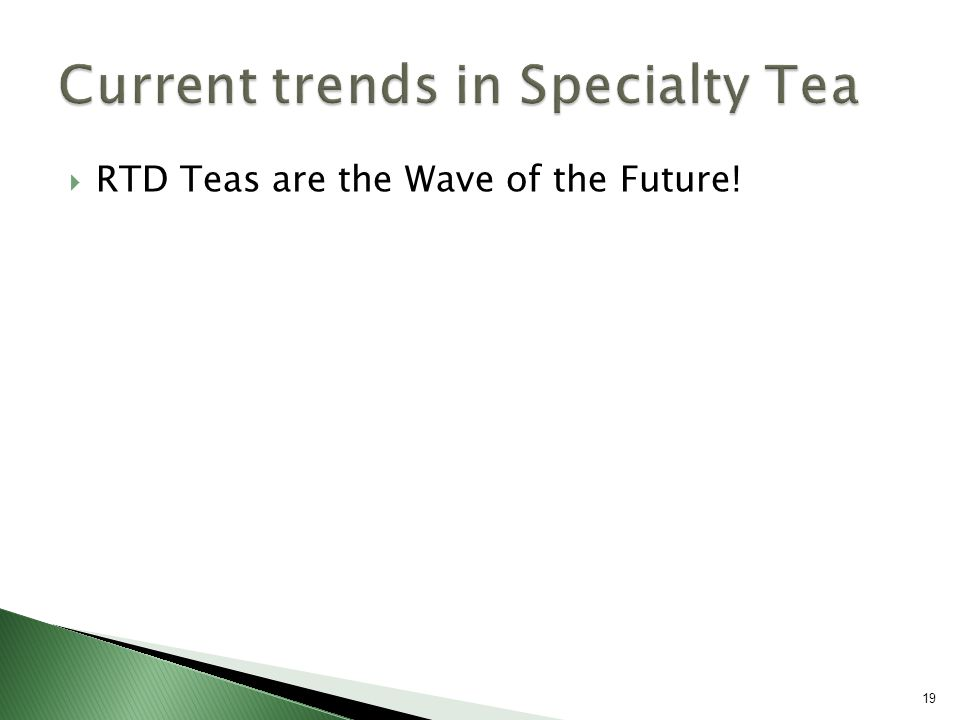  RTD Teas are the Wave of the Future! 19