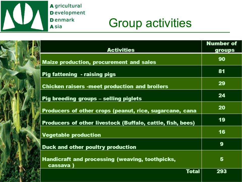Group C.D.activities ProvinceNoC.D.