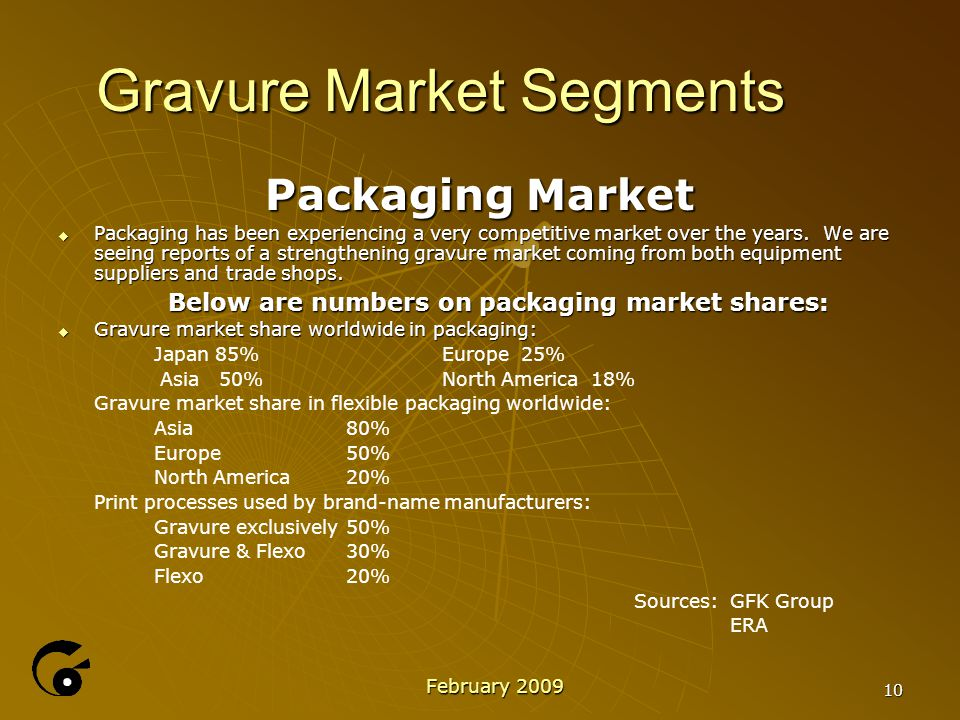10 Gravure Market Segments Packaging Market  Packaging has been experiencing a very competitive market over the years.