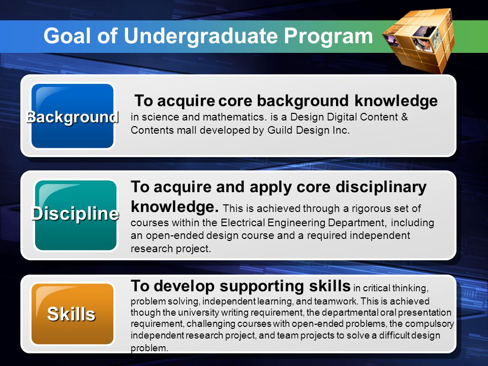 Features Training in engineering fundamentals Exposure to modern applications and recent research results Participation in independent study /research Required completion of some courses from a wide range of elective courses in libraries BachelorofScienceBachelorofScience Our School offers a four-year degree program leading to Bachelor of Science in Engineering degree.