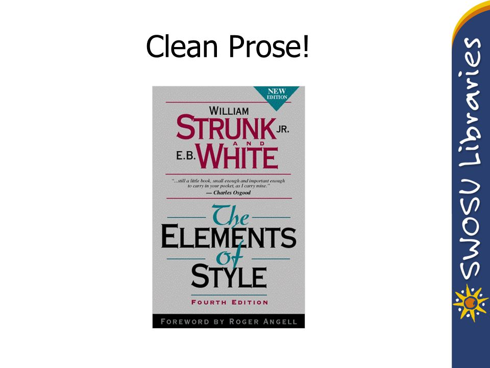 Clean Prose!