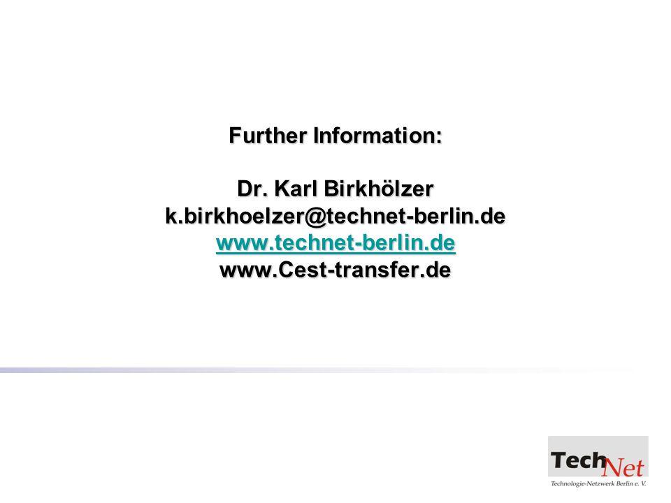 Further Information: Dr.