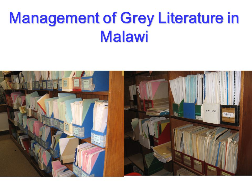 Management of Grey Literature in Malawi