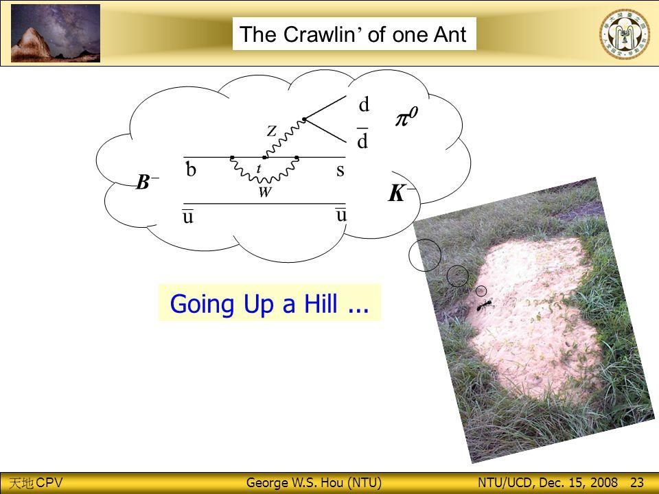 CPV George W.S.Hou (NTU) NTU/UCD, Dec. 15, 2008 23 _d_d d  KK u u BB sb Going Up a Hill...