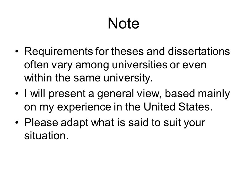 Preliminary Questions Experience –Have you written a thesis or dissertation.