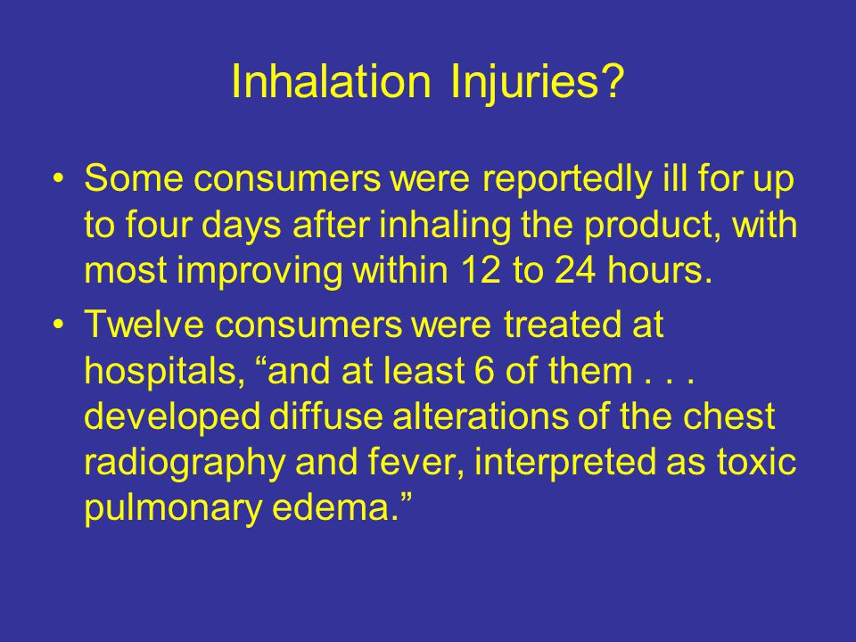 Inhalation Injuries.
