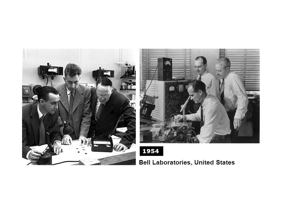 GLOBAL HISTORIES Bell Laboratories, United States 1954