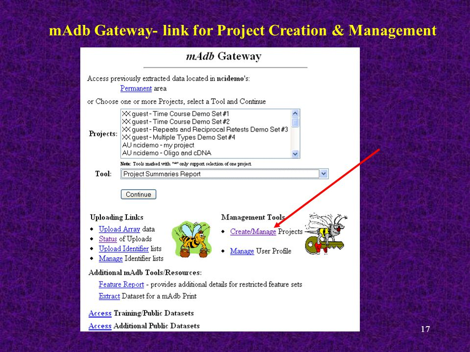 17 mAdb Gateway- link for Project Creation & Management