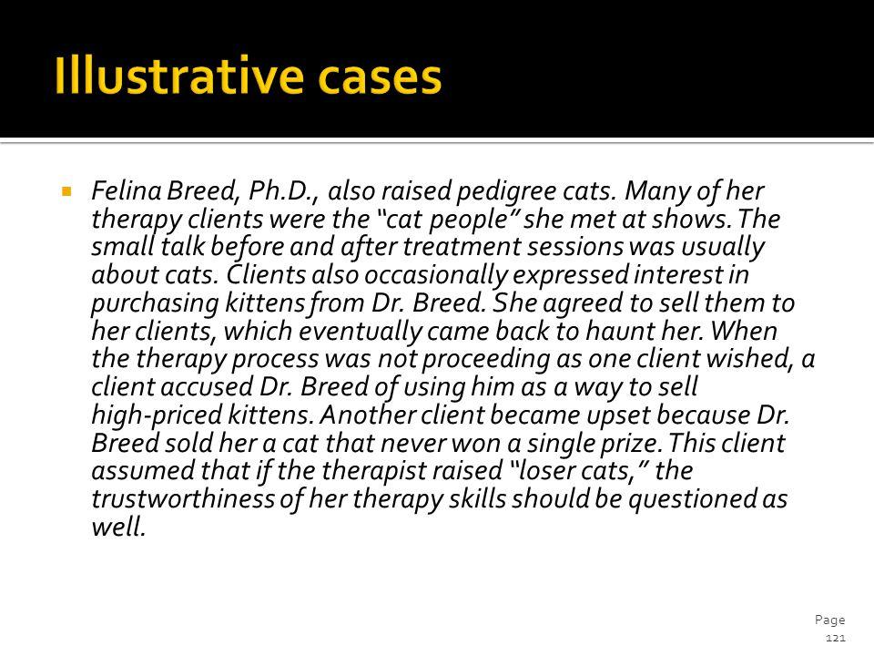  Felina Breed, Ph.D., also raised pedigree cats.