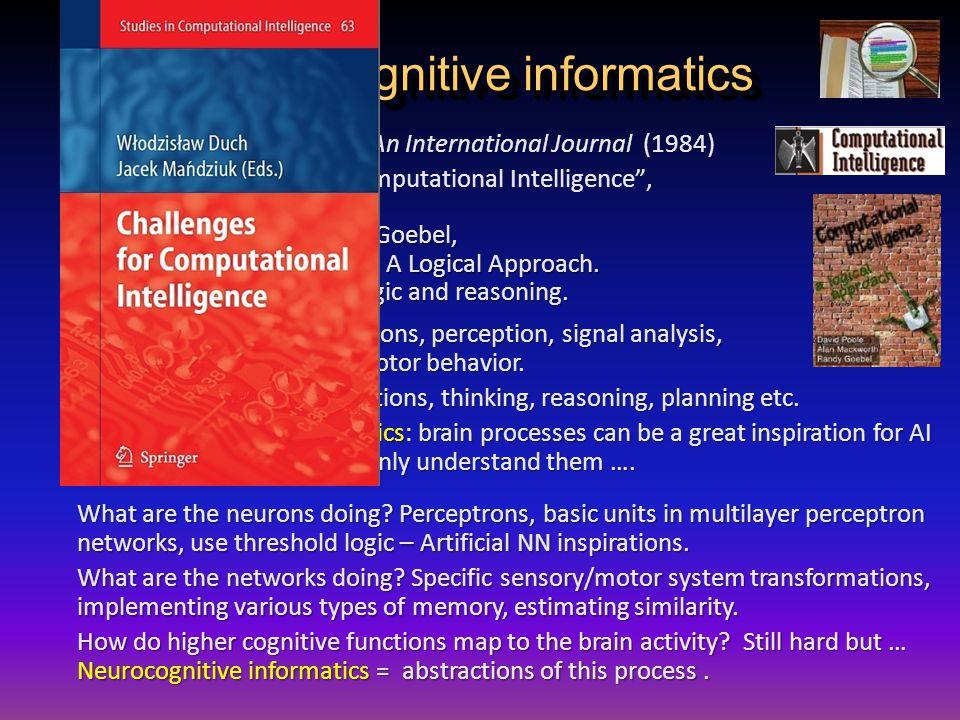 """Neurocognitive informatics Computational Intelligence. An International Journal (1984) + 10 other journals with """"Computational Intelligence"""", D. Poole"""