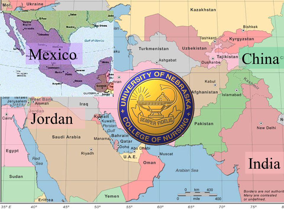 India China Jordan Mexico