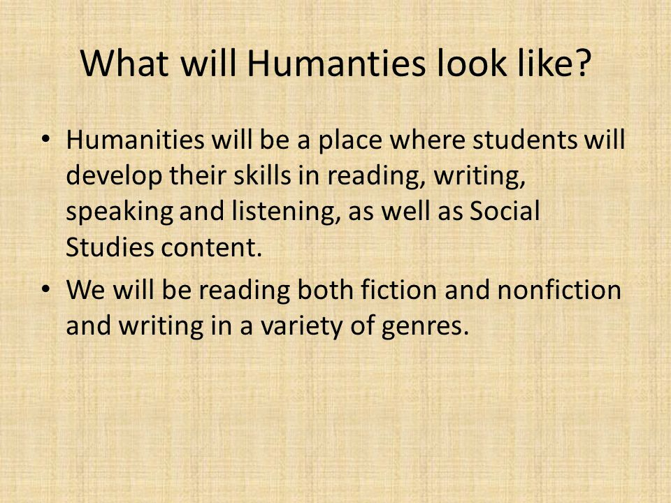 What will Humanties look like.