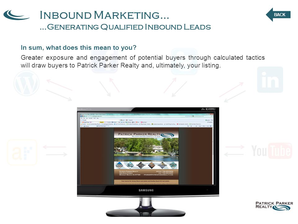 Inbound Marketing… …Generating Qualified Inbound Leads In sum, what does this mean to you.