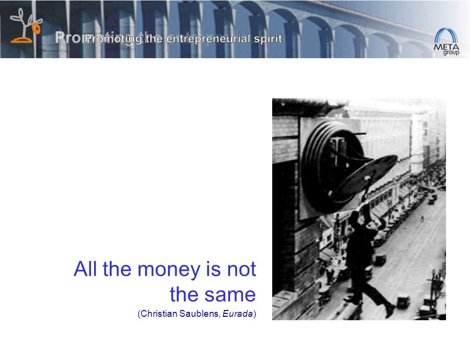 All the money is not the same (Christian Saublens, Eurada)