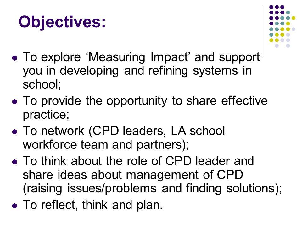 How do we measure impact?