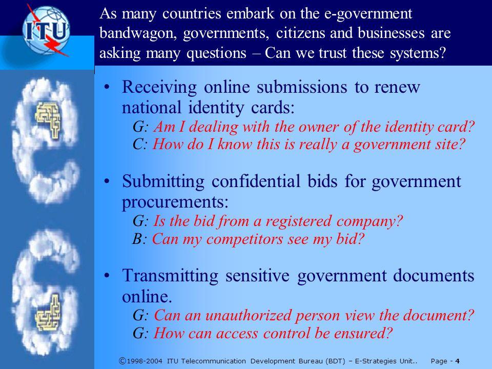 © 1998-2004 ITU Telecommunication Development Bureau (BDT) – E-Strategies Unit..