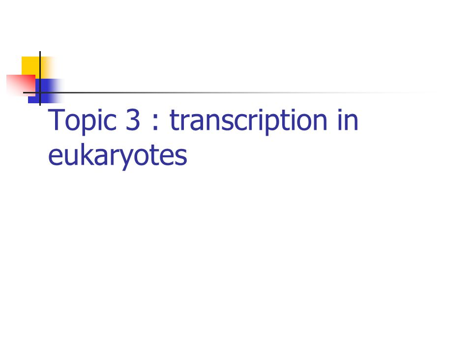Transcription in bacteria Vs in eukaryotes Eukaruotes have three different pol (I,II,III), whereas bacteria have only one.