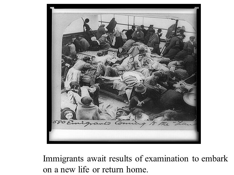 Italian immigrant family at Ellis island early 1900's.
