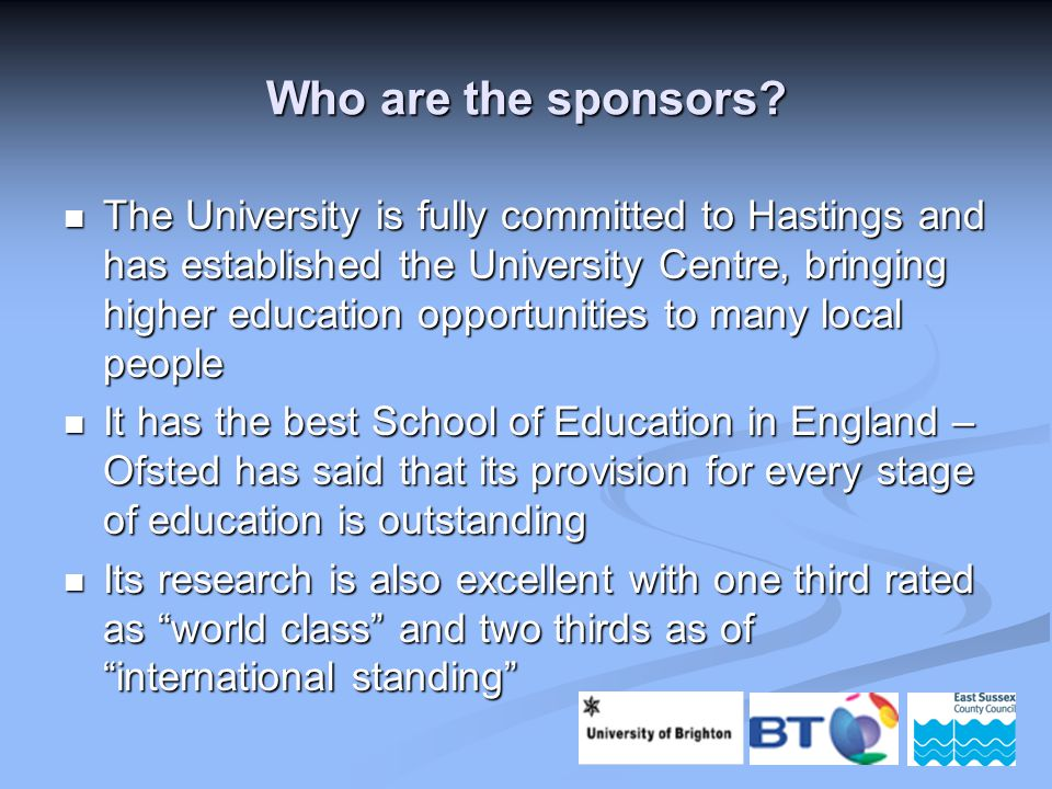 Who are the sponsors.