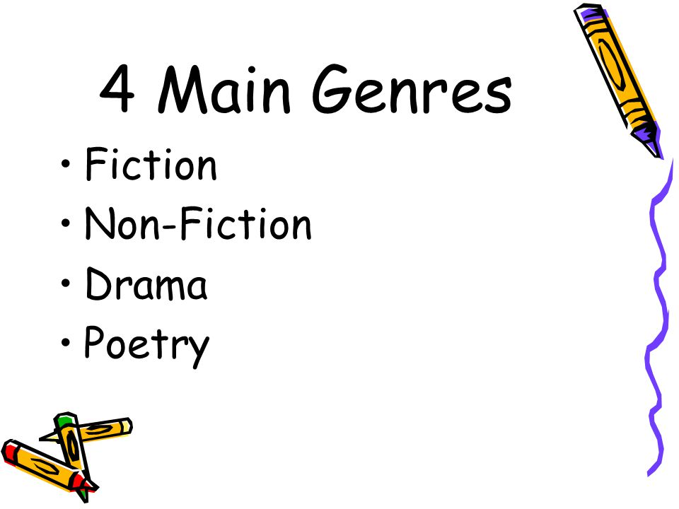 **To organize text, categories (or genre) were established. **Each genre is broken down into subgenre.
