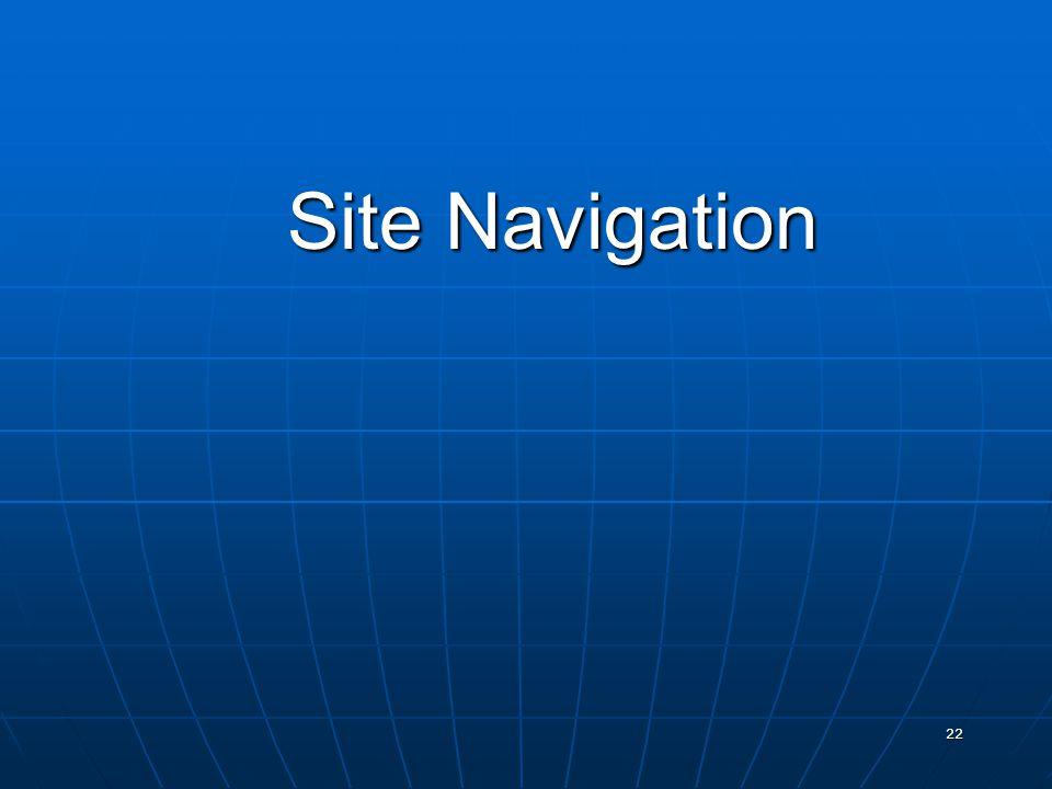 22 Site Navigation